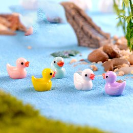 Wholesale Mini Pops Kids - 5 Colors Mini Ducks Figures Fanko Pop Home Decor Kids Toys Christmas Gifts Novelty Items Toys for Adults Wedding Decorations