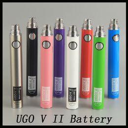 E cig ego on-line-Oringinal Evo UGO V II V 2 650 mAh 900 mAh Ego 510 Bateria 8 cores Micro USB Charge Charge E-cig O caneta Vape baterias 0270001-01