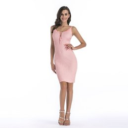 Wholesale Pink Bodycon Skirt - New Fashion Chest With Braces Criss-Crossed Knitted Buttock Skirt Party Club Dresses