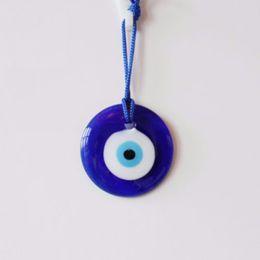 Кабинет прелести онлайн-Shellhard Lucky Turkish Blue Glass Evil Eye Amulet Trendy Hanging Charms Car Office Wall Decoration Home Decor 7cm