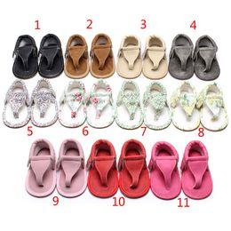 2019 sandales d'été bébé 11 Couleur baby ins sandales à fond mou 2018 Nouvel été enfants tongs PU Sandales à bouts ouverts bébé First Walkers chaussures B001 sandales d'été bébé pas cher
