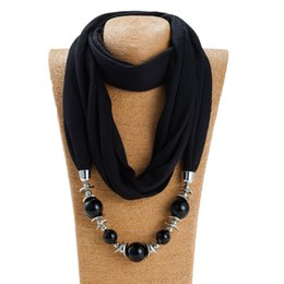 Bufanda colgante creativo del grano de las mujeres diseñador de lujo color sólido originalidad decorar bufandas estilo nacional para al aire libre diario 9bx ff desde fabricantes