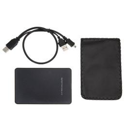 Siyah Sabit Disk için Harici Muhafaza Disk USB 2.0 SATA HDD Taşınabilir Kılıf 2.5