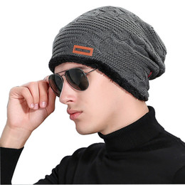 Promotion Adult Winter Hats Male Hats Knit Knitting Caps Fashion Cool  Keeping Warm Men Thickening Hedging Caps For Men e6b508da11f5