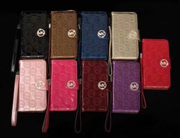 Cartera de la pu móvil online-Funda de cuero para el teléfono móvil de lujo para iphone X XS Max XR 8 8plus 7 6 6S con ranura para tarjeta cubierta de protección de cordón para iPhone XS
