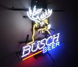 2019 sinais de luz busch Nova Estrela de Sinal de Néon Fábrica 17X14 Polegadas de Vidro Real Luz de Sinal de néon para Beer Bar Pub Sala de Garagem Busch Cerveja. sinais de luz busch barato