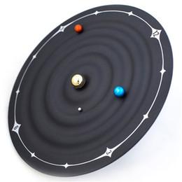 2019 relógio mágico Galaxy Relógio de Parede Magnético Marte Terra Magia Vênus Ponteiros de Suspensão Eletrônico Criativo Casa Moda Relógios Decoração Pingente de 120 hs hh relógio mágico barato