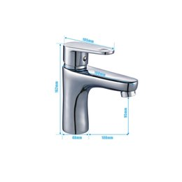 Wholesale brass wash sink - Modern Single Handle Wash Basin Faucet Bathroom Sink Faucet with Drain Assembly Lavatory Tap Lead-Free Brass,Chrome Finish