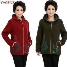 Wholesale New Age Clothing - Fashion Middle-aged women's clothing Large size Women Hoodies 5XL Spring autumn coat NEW Leisure Women tops High quality BN3091