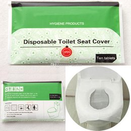 Wholesale disposable paper toilet seat covers - Disposable Toilet Seat Cover Travel Hotel Toilet Seat Covers Camping Festival Travel Loo wc mat Paper Seat WX9-442