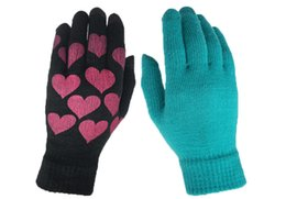 b65cdb107fd9b0 love knitting patterns Promo Codes - 2018 new touch screen gloves Men and  women pattern love