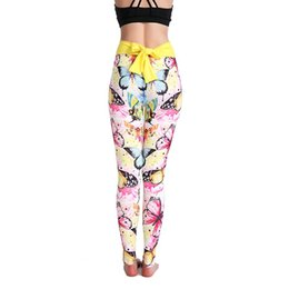 a8166f215f China Butterfly Printed Yoga Pants Elastic Women's Leggings Sports Running  Workout Pants Highly Stretchable Lady leggings
