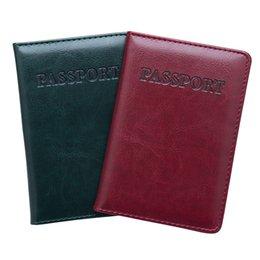 2020 billetera de identificación de entradas Etaofun Travel Passport Cover Candy color Passport Holder PU case ID ticket para mujer billetera billetera de identificación de entradas baratos