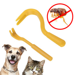 Wholesale clean horse - 2Pcs Plastic Portable Louse Flea Scratching Remover Hook Tool For Animal Dog Pet Horse Cat Dog Grooming OOA5340