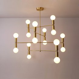 2018 Kronleuchter Bronze Modern Moderne Lineare Linie Decke Kronleuchter  Licht Drehbar Einstellbar Bronze Gold Hängeleuchte Lampe