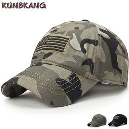 Novos homens eua bandeira camuflagem boné de beisebol do exército bordado  algodão tático snapback pai chapéu masculino verão esportes américa tampão  do ... 051ae17fc03