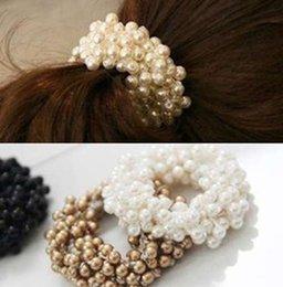 1 PZ Moda Perla Copricapo Elastico Fasce per capelli Elastici Elastici per capelli Anello Cravatta Accessori per capelli Scrunchy Fascia per le donne da