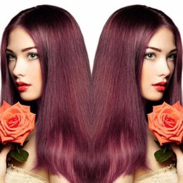 Wholesale Long Dark Red Hair - 99j Brazilian Lace Wig Virgin Human Hair Lace Front Wigs Wine Red Full Lace Wig 99j Body Wave Middle Part For Black Women