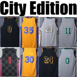 Wholesale Men Land - NEW CITY EDITION 2018 basketball jerseys camisetas REV SWINGMAN GREY THE LAND THE BAY THE DISTRICT#11 #13 #30 #35 GREY retirement RETRO