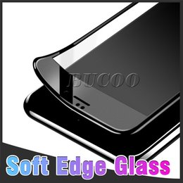 Canada Pour iPhone XR XS MAX X 8 7 Plus Protecteurs D'écran Conception De Fibre De Carbone 3D Courbe Doux Bordure Bordure En Verre Trempé Pour iPhone 6 Pas de Paquet Offre
