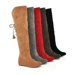 2018 nouvelles bottes chaudes de neige britanniques des femmes britanniques bottes hautes chaussures d'hiver après la sur les bottes au genou ont augmenté bottes féminines vente chaude ? partir de fabricateur