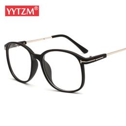 a41af3f064 YYTZM Glasses Vintage Retro Big Round Frame Women Eyeglasses oculos de grau  with clear lens reading eye glasses frame eyewear