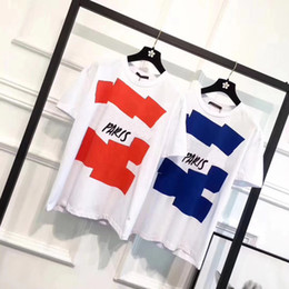 Wholesale high short - Spring Summer 2018 Luxury Europe Malletier Paris 1854 High Quality Graphiclogo Tshirt Fashion Men Women T Shirt Casual Cotton Tee Top