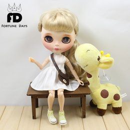 Wholesale Pink Doll Clothes - Blyth Doll Clothes for blyth dolls ,azone ,1 6 doll white dree pink bag brown bag