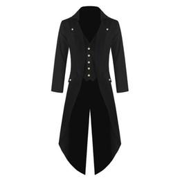 Mens Coat Vintage Tailcoat Jacket Gothic Victorian Frock Coat Popular Trench Fashion Mens Overcoat Slim Long supplier victorian jackets от Поставщики викторианские куртки