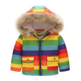 Niños Unisex Abajo Parkas Invierno Bebé Acolchados Prendas de abrigo Niñas niños Chaqueta con capucha informal Sólido cálido niños abrigos Outwear Ropa desde fabricantes