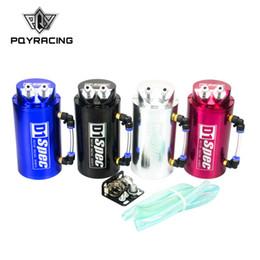 moteurs jdm Promotion PQY RACING - Bidon de récupération d'huile universel 10mm, moteur D1 rond, JDM NOIR, ARGENT, ROUGE, BLEU PQY- TK82