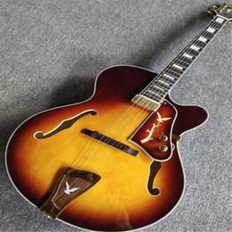 Benutzerdefinierte hohlkörper gitarren online-Neue kundenspezifische hohle E-Gitarre, echte Bildanzeige, kostenloser Versand