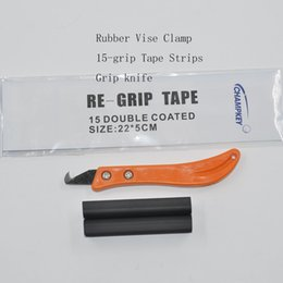 Wholesale Clamping Kit - Golf Club Kit Rubber Vise Clamp + Regrip Tool Install Change Steel + Hook Blade Utility Knife 13Pieces Grip Tapes