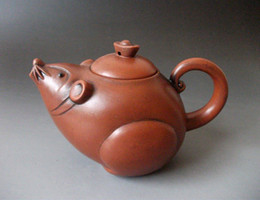 Wholesale Zisha Yixing Teapots - Chinese Purple Clay zisha YIXING Pottery Teapot Mouse shape