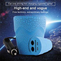 Cup Car Charger DC 12-24V LED cargador de coche Dual USB encendedor de cigarrillos Splitter multifunción para GPS DVR teléfonos de carga desde fabricantes