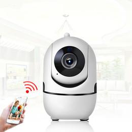 contrôle de la maison sans fil Promotion Sécurité à la maison sans fil Mini caméra IP sans fil épouse 720P 1080P avec carte mémoire vision nocturne CCTV caméra bébé moniteur télécommande