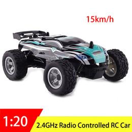 Rc coches rtr online-2.4GHz 4WD RC Car 1:20 Juguetes de Radio Control Eléctrico de Alta Velocidad Coche de Carreras Buggy RTR Máquina de vehículo para Niños Boy Regalo de Cumpleaños