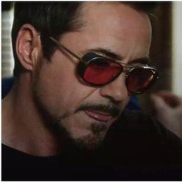 Wholesale Iron Man Silver - IRON MAN 3 Matsuda TONY Sunglasses Fashion Luxury Super Star Brand Designer Steampunk Sun Glasses Mirrored Classic Vintage Shades