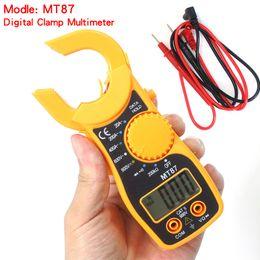 Argentina Multímetro digital Electronic CLAMP Meter Voltaje de CA Tester de corriente Volt Ampere Ohm Meter MT87 con paquete cheap ohms meters Suministro