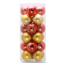 Новогодняя елка красные шары онлайн-Многоцветные рождественские шары Красный Рождественская елка украшения шары для дома Рождественская елка декор серебро висит орнамент 6 см