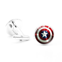 Superheld-manschettenknöpfe online-20 Paar Superhero Manschettenknöpfe Super Hero Avengers Manschettenknöpfe Captain America Manschettenknopf Thor Manschettenknöpfe Manschettenknöpfe für Männer Jungen
