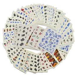 tipi di chiodi Sconti 48 Fogli Stile Cinese Fiore Nail Sticker Acqua Trasferimento Nail Art Decalcomanie Bellezza Wraps Strumenti di Manicure Taoos Temporanei A241-288