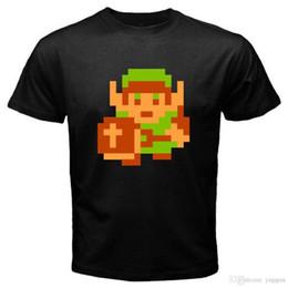 La légende de Zelda Retro Classic 8 Bit Jeu Vidéo T-Shirt Homme Noir Taille S-3XL ? partir de fabricateur