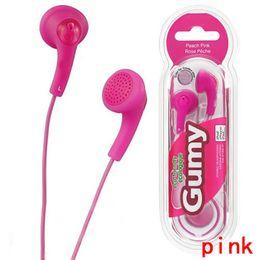 Gumy earbuds mic online-Hohe qualität gumy ha f150 kopfhörer gummiartige kopfhörer handy kopfhörer ohrhörer 3,5mm ohne mikrofon fernbedienung von dhl