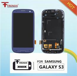 TFT ЖК-дисплей в сборе сенсорный экран + дигитайзер с заменой кадров для Samsung Galaxy S3 i9300 i747 I535 Белый Бесплатная доставка от