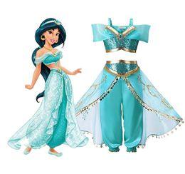 princess jasmine cosplay Promotion La lampe des filles d\u0027Aladdin Jasmin  Princesse Costumes Cosplay Pour