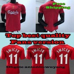 Wholesale Red Man Sign - 2005 FIRMINO Adult Home red Soccer Jersey 2006 SMICER Signed 2005 European Championship Final Football uniforms 10 COUTINHO sales