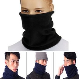Wholesale Winter Wear Men Scarf - Wholesale- 4 in 1 Winter Unisex Women Men Warm Thermal Scarf Snood Neck Warmer Face Mask Beanie Hats Wear Collar