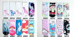 Wholesale Running Kid - Sports Socks 3D Printed Socks Men's Women Kids New Pattern Hip Hop Cotton Sock Unisex SOX Emoji Animal Cartoon Skull 100pcs=50pairs