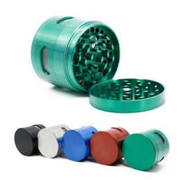 grinder scraper Promo Codes - Side Window Grinders 4 Parts Metal Grinders 40mm 63mm Diameter Zinc Alloy Material With Scraper 5 Colors Available